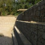 Gabbioni per parchi archeologici
