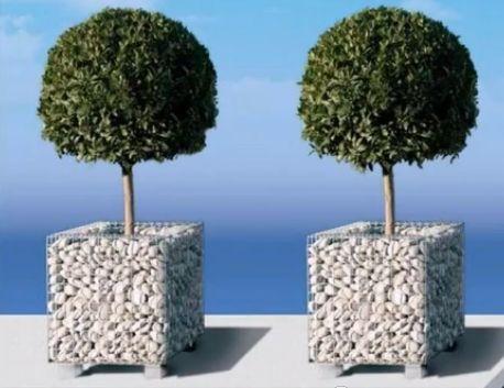 Vasi ornamentali per giardini con gabbioni metallici for Giardini ornamentali