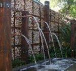 Giardino Stile Giapponese con Fontane in Gabbioni Metallici