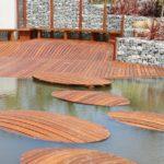 percorso acquatico con Gabbioni Metallici per Arredo Giardino