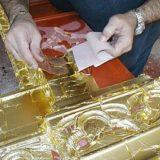 foglia oro decorazione