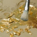 foglia oro pittura